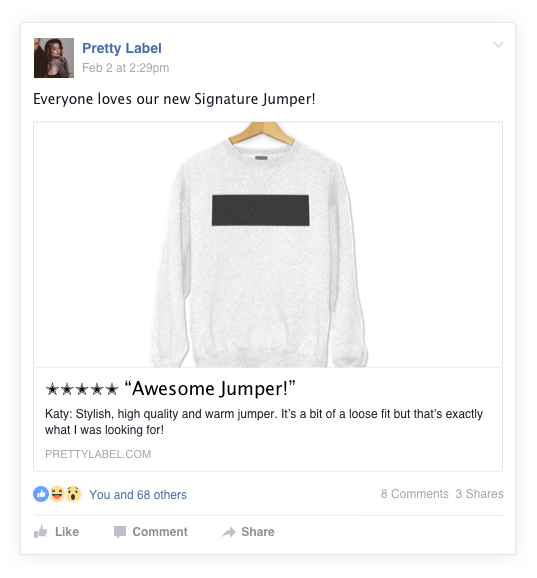 Push your reviews to social media
